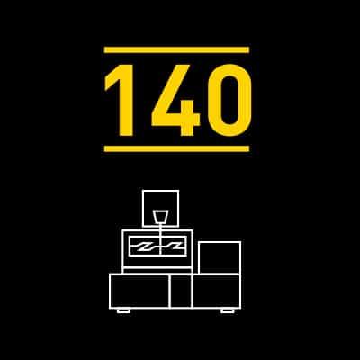 Tot 140 uur onbemande machinebewerking