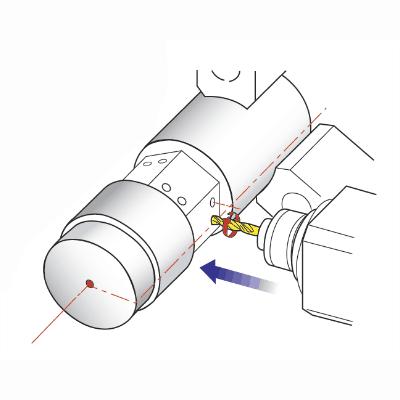 Off-center boren en frezen